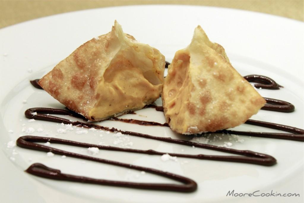 Pumpkin Cream Cheese Dessert Wontons