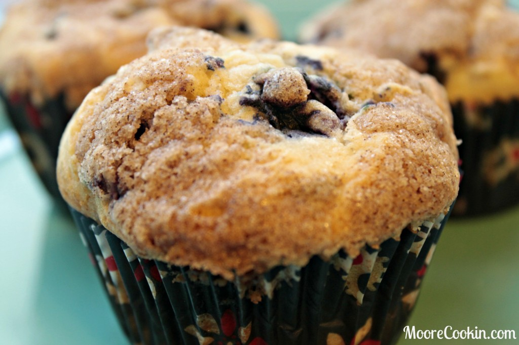 Blueberry Chocolate Chip Streusel Muffin