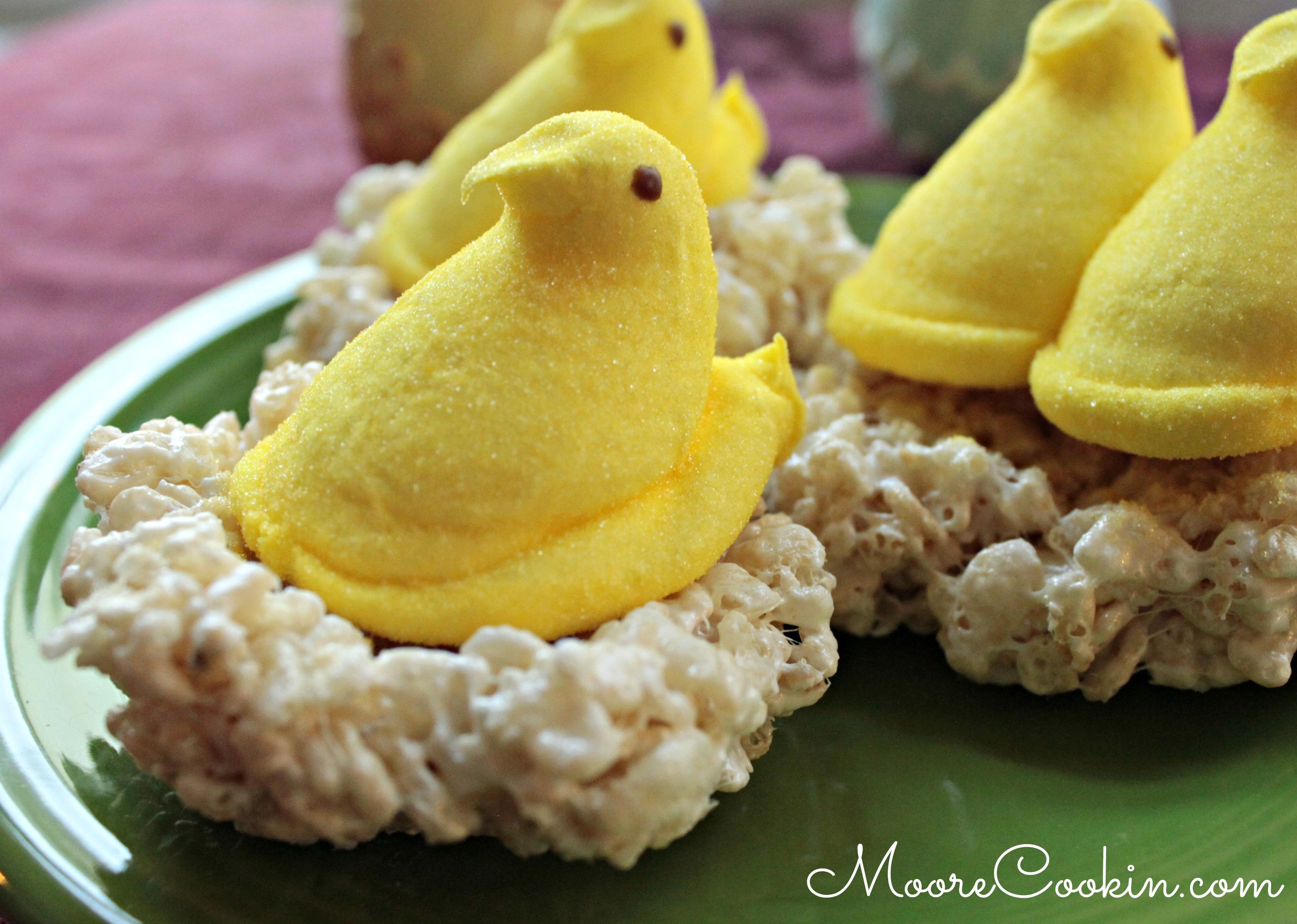 easter rice krispie peeps