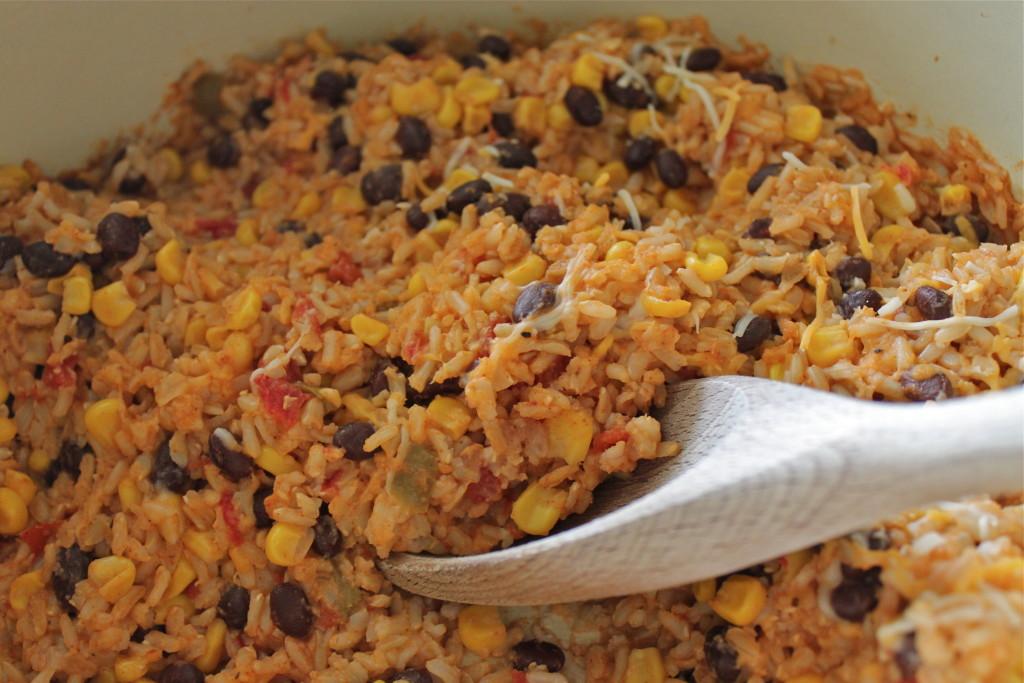enchilada rice bake
