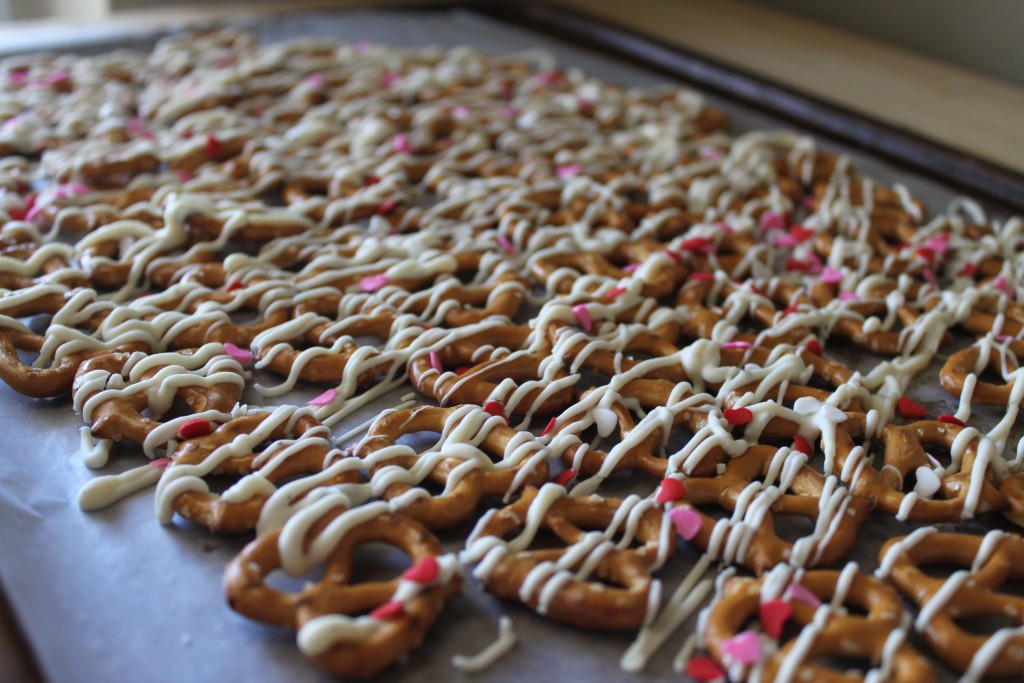 Making Valentine's Pretzels