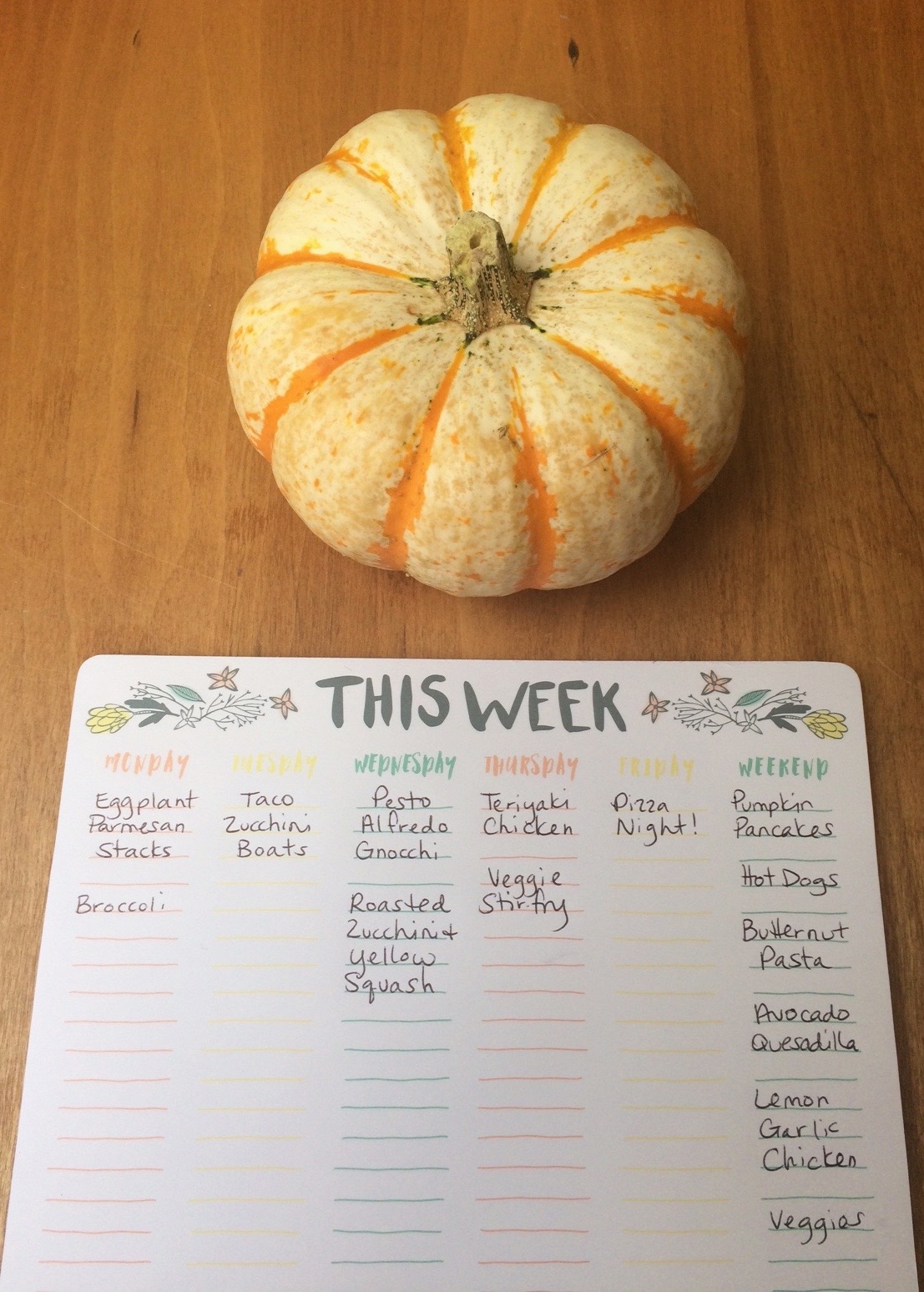 Meal Planning Monday October 3