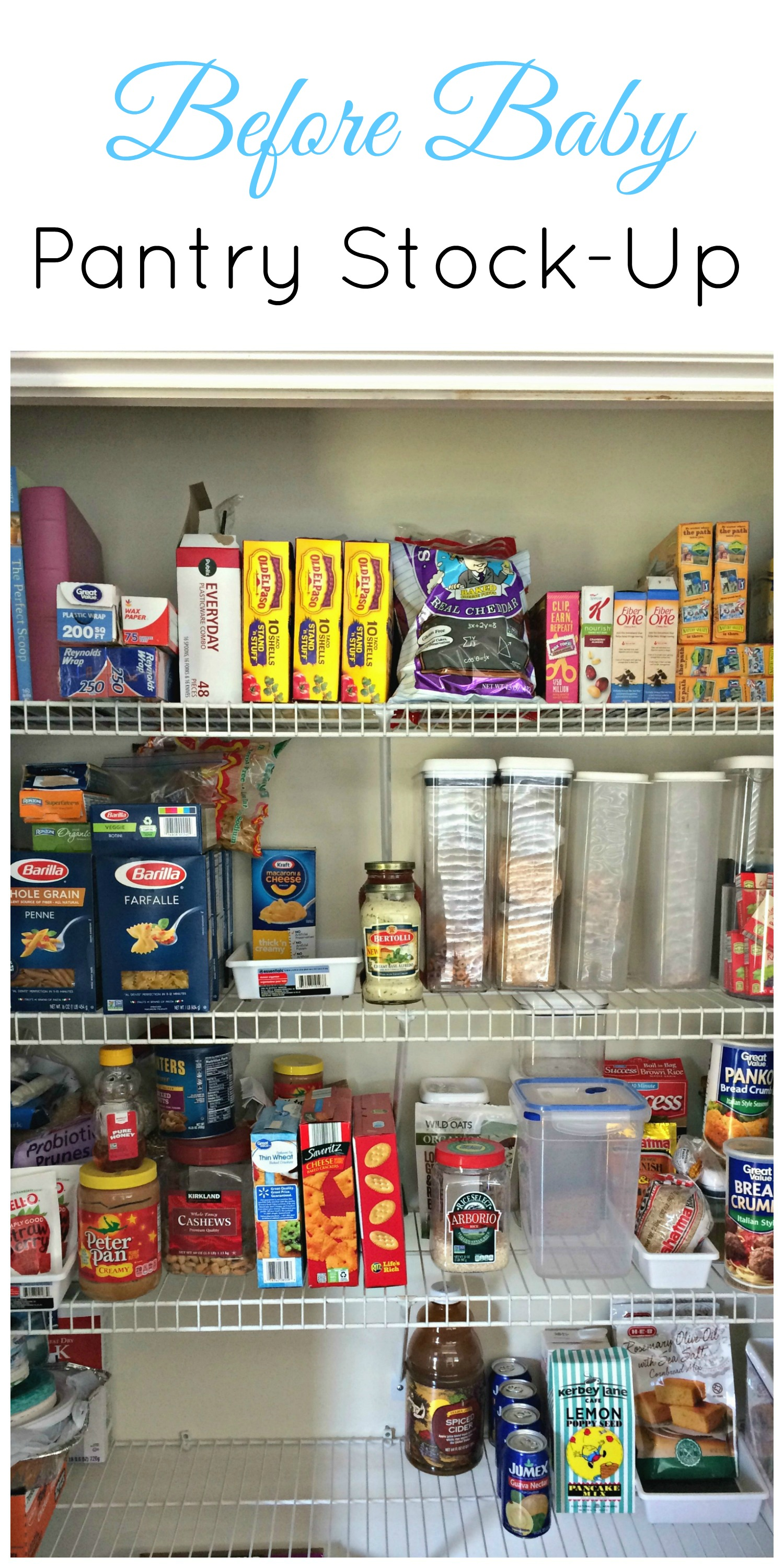Pantry Stock Up Before Baby